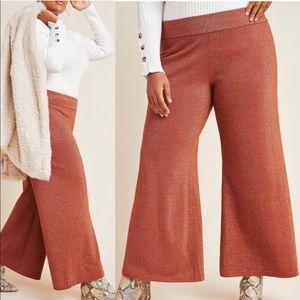 Anthropologie Soho Shimmer Knit Wide-Leg pant sz3X